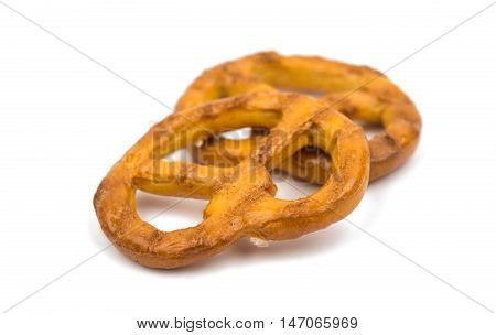 Cookies pretzels bakery on a white background