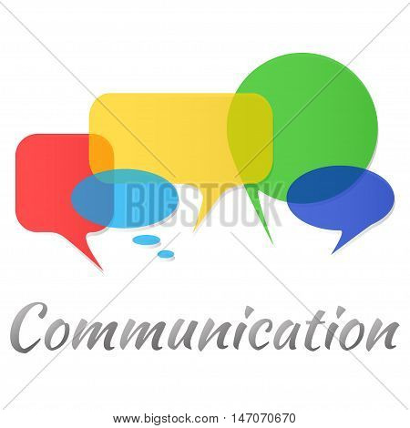 Colorful transperent speech bubbles and dialog balloons. Vector illustration of a communication concept.