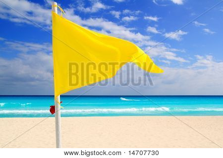 Beach Yellow Flag Weather Wind Advice