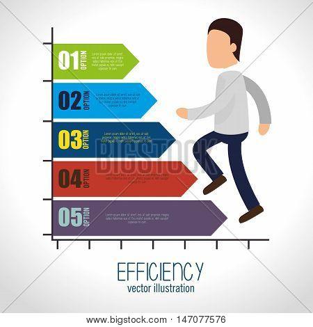 avatar efficiency chart design isolated vector illustration esp 10