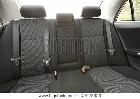 Back seats of a car