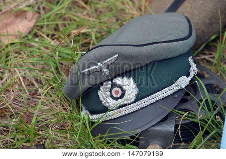 German historical military items of WWII.At September 10,2016 in Kiev, Ukraine