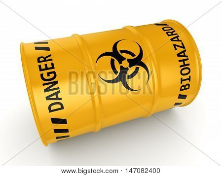 3D Rendering Biohazard Barrel