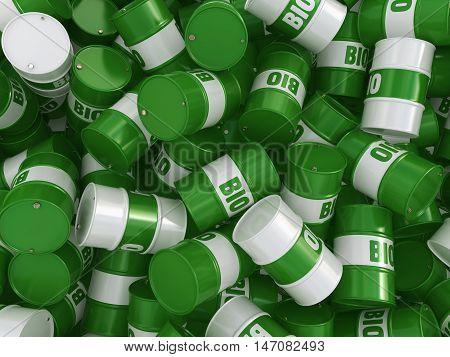 3D Rendering Barrel Of Biofuels