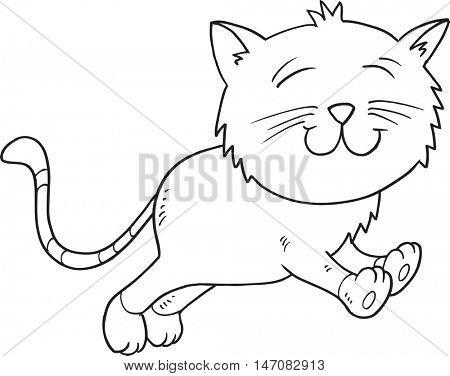 Doodle Cat Vector Illustration Art