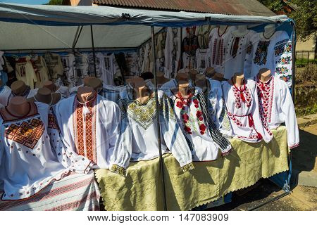 Traditional Ukrainian national wear - embroidered shirt