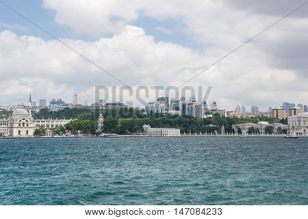 Panoramic view of Istanbul and Golden Horn Turkey