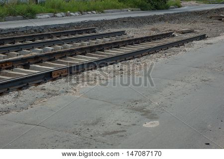 Unusable railway which needs to be repaired