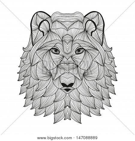 Hand Drawn Decorative Wolf
