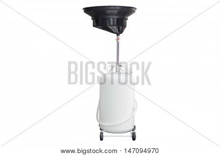 Equipment for oil changing isolated