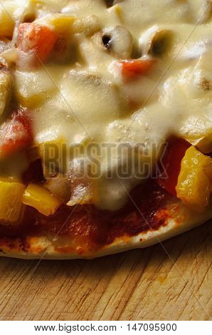 Vegetable And Cheese Pizzza From Above