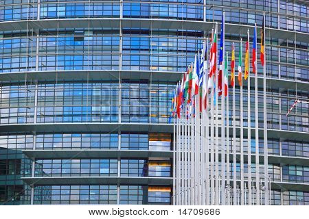 The European council parliament in Strasbourg, France