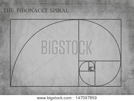 The Fibonacci Spiral On Retro Style
