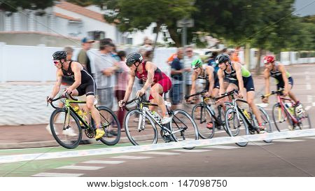 Frontrunners For A Road Bike Race
