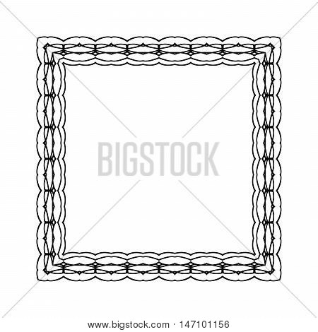 Gypsy Ornamental Frame. Vector Square Border