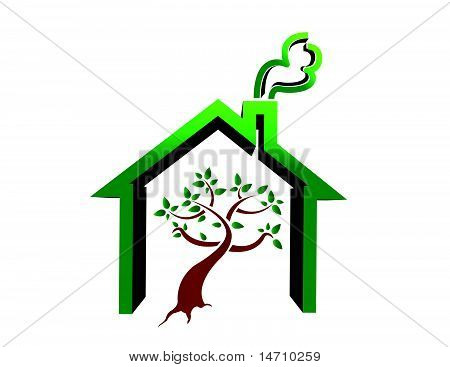 tree house illustration design isolated over a white background