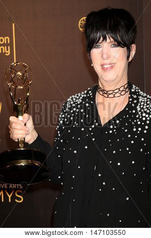 LOS ANGELES - SEP 11:  Diane Warren at the 2016 Primetime Creative Emmy Awards - Day 2 - Press Room at the Microsoft Theater on September 11, 2016 in Los Angeles, CA
