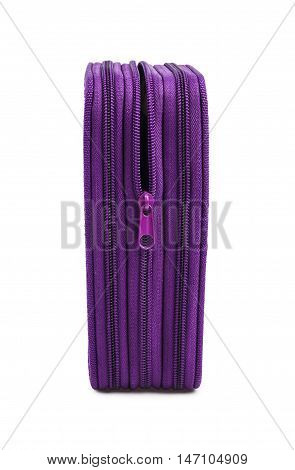 School box purple color; isolated on the white background
