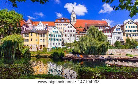 Beautiful romantic medieval town Tubingen, Germany