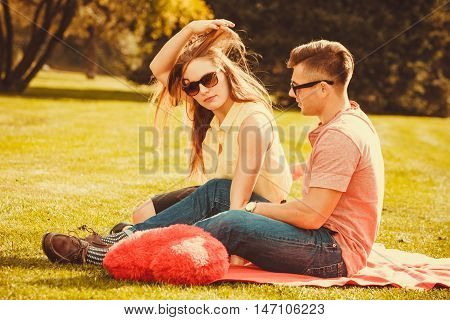 Young Couple On Picnic.