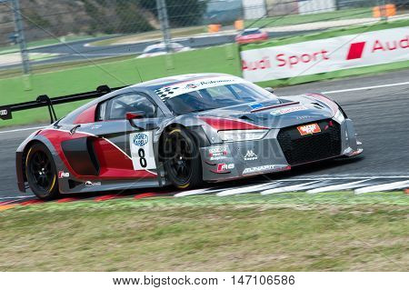 Vallelunga, Rome, Italy. September 10Th 2016. Italian Touring Championship. Audi R8 In Action