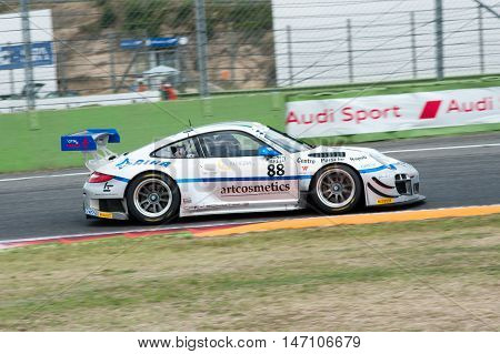 Vallelunga, Rome, Italy. September 10Th 2016. Italian Touring Championship. Porsche 911 In Action