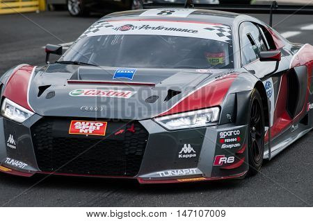 Vallelunga, Rome, Italy. September 10Th 2016. Italian Touring Championship. Audi R8 Exit From Pit La