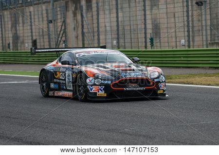 Vallelunga, Rome, Italy. September 10Th 2016. Italian Touring Championship. Aston Martin In Action