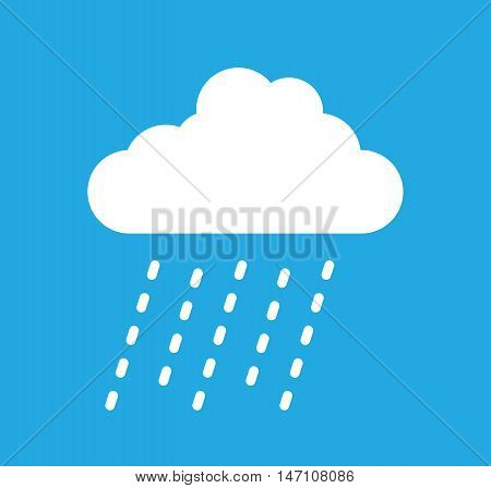 a blue and white rain cloud image
