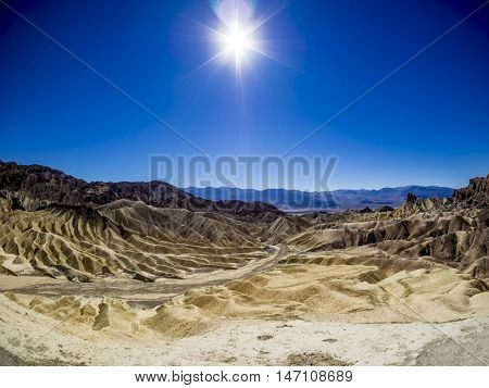Heavily eroded Ridges at Death Valley National Park, California, USA