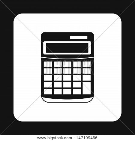 Calculator icon in simple style on a white background vector illustration