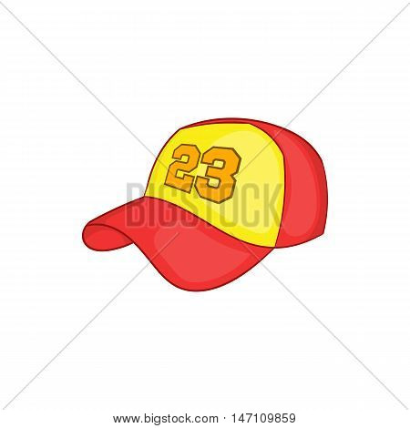 Baseball cap icon in cartoon style isolated on white background vector illustration