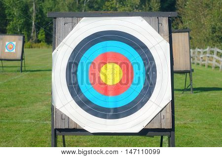 target archery goal precision leisure game concept