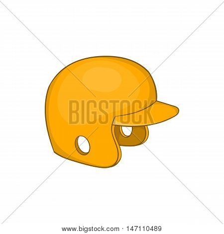 Baseball helmet icon in cartoon style isolated on white background vector illustration