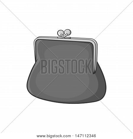 Womens wallet icon in black monochrome style isolated on white background. Finance symbol vector illustration