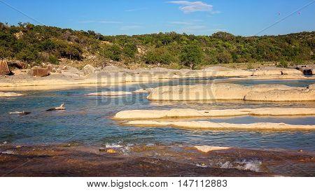 Pedernales River in Texas runs through Pedernales Falls State Park