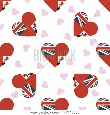 Bermuda Independence Day Seamless Pattern. Patriotic Background With Country National Flag In The Sh