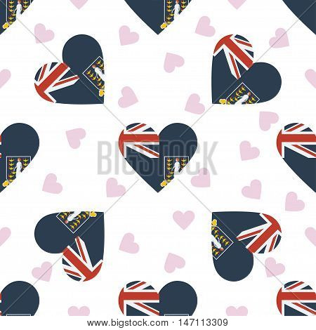 Virgin Islands, British Independence Day Seamless Pattern. Patriotic Background With Country Nationa