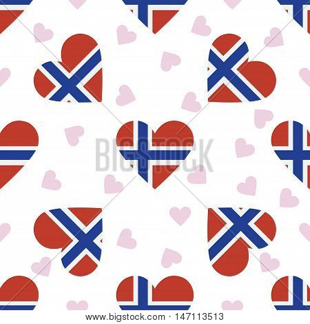 Svalbard And Jan Mayen Independence Day Seamless Pattern. Patriotic Background With Country National