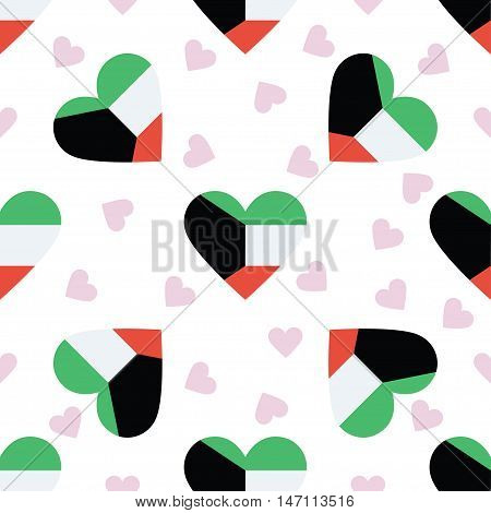 Kuwait Independence Day Seamless Pattern. Patriotic Background With Country National Flag In The Sha