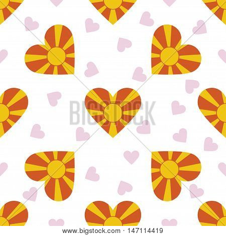 Macedonia, The Former Yugoslav Republic Of Independence Day Seamless Pattern. Patriotic Background W