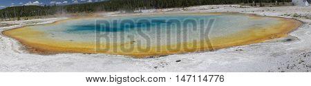 Sunset Lake Panoramic - Yellowstone National Park