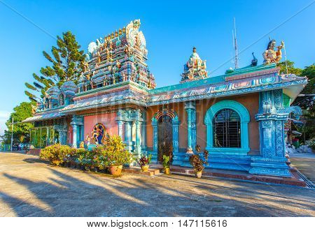 PENANG- APRIL 14: Sri Ruthra Veeramuthu facade in Penang hill on April 14 2016 in George Town Penang Malaysia historical city centre has been listed as a UNESCO World Heritage Site .