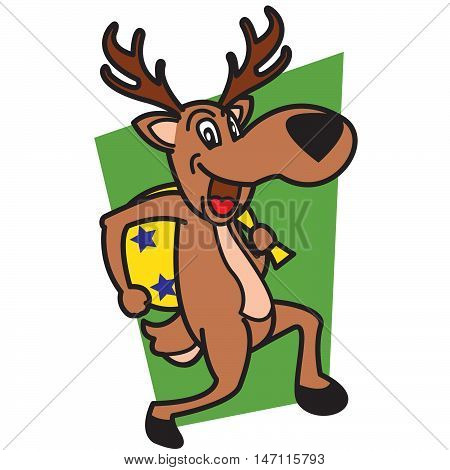 Thieves deer vector art illustreation tshirt design