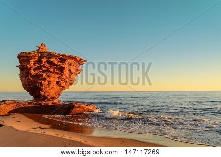 Ocean coast at the sunrise (Thunder Cove Prince Edward Island Canada)