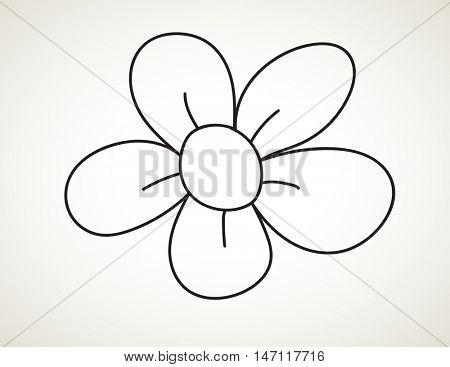 doodle flower - Hand drawn Sketch