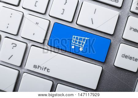 Shopping Cart Symbol On The Keyboard