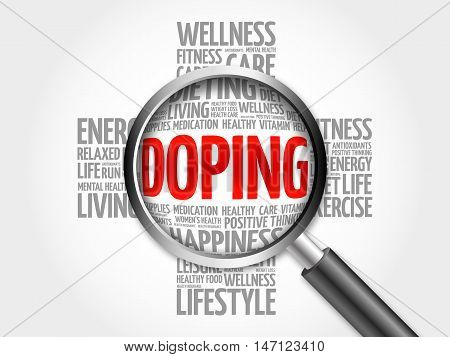 Doping Word Cloud With Magnifying Glass
