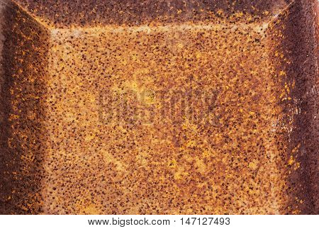 Rusty Decayed Patterns And Textures On Rusted Metal Surface