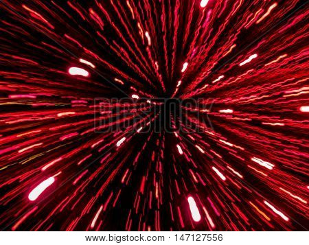 Picture of red and purple random abstract light trails